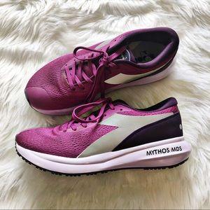 Diadora Mythos MDS Purple Running Shoes Size 7.5